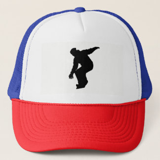 Snowboarder Silhouette Trucker Hat