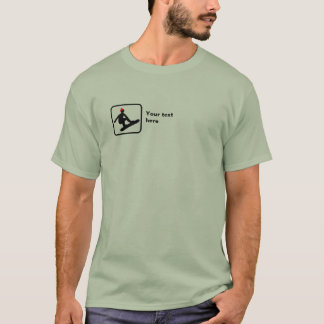 Snowboarder -- Small Logo -- Customizable T-Shirt