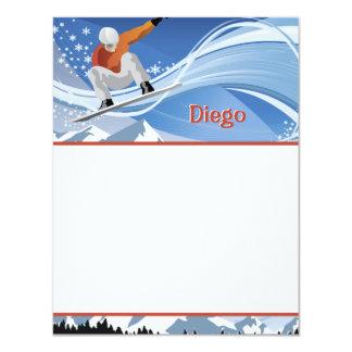 Snowboarder Stationery Card