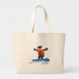 Snowboarder Jumbo Tote Bag