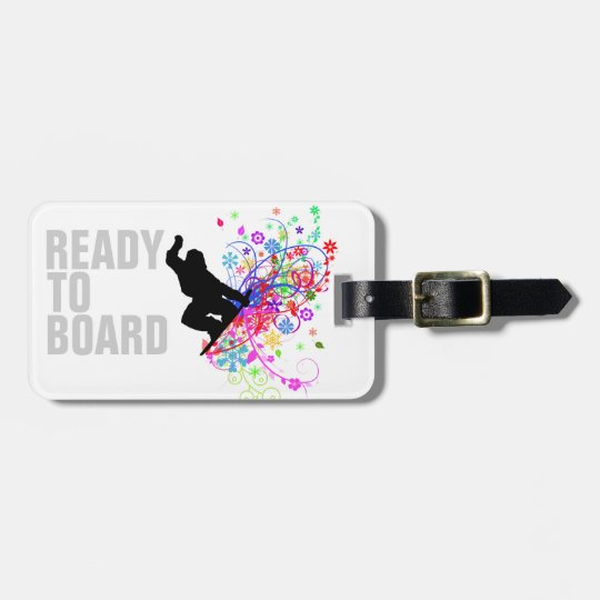 Snowboarders luggage tag