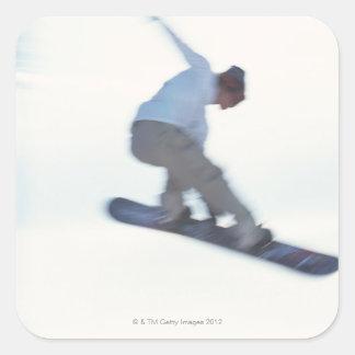 Snowboarding 11 square sticker