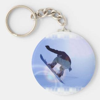 snowboarding-12 basic round button key ring