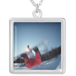 Snowboarding 12 silver plated necklace