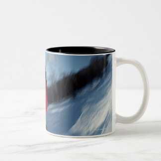 Snowboarding 12 Two-Tone coffee mug