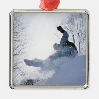 Snowboarding 13 Silver-Colored square decoration