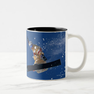 Snowboarding 14 Two-Tone coffee mug
