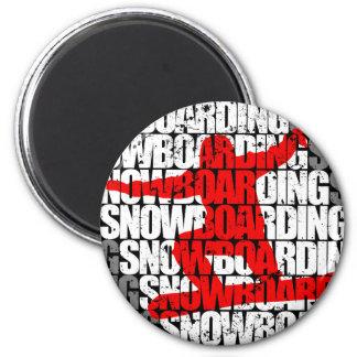 Snowboarding #1 (wht) magnet