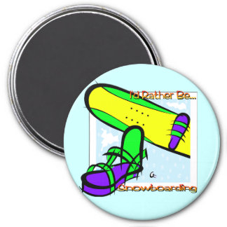 Snowboarding 2 fridge magnets