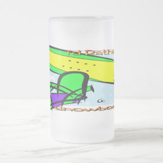 Snowboarding 2 frosted glass mug