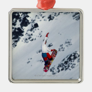 Snowboarding 2 Silver-Colored square decoration