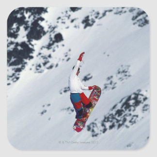 Snowboarding 2 square sticker