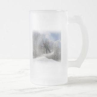 Snowboarding 360 Frosted Beer Mug