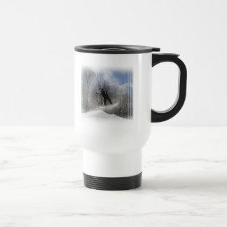 Snowboarding 360 Plastic Travel mug