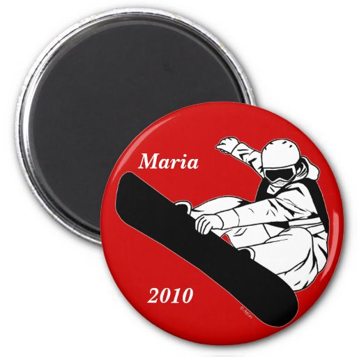 Snowboarding 3 magnets