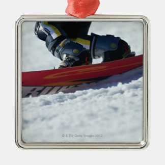 Snowboarding 4 Silver-Colored square decoration