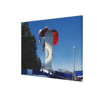 Snowboarding 5 canvas print