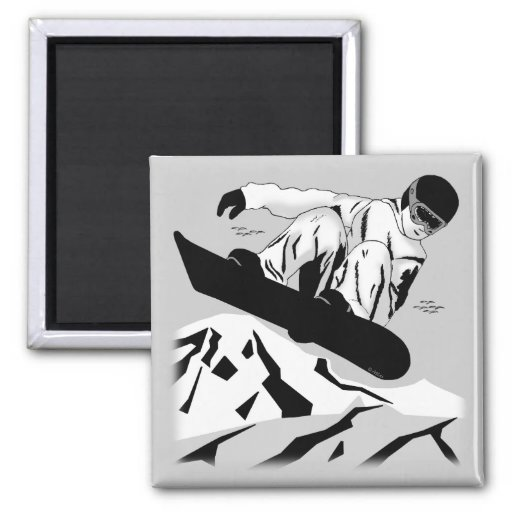 Snowboarding 5 magnets
