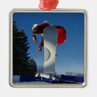 Snowboarding 5 Silver-Colored square decoration