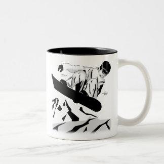 Snowboarding 5 Two-Tone coffee mug