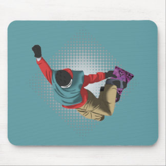 Snowboarding 7 mouse pad