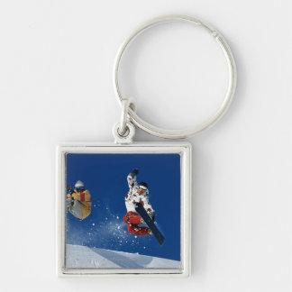 Snowboarding 8 key ring