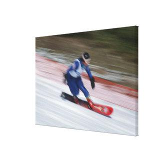 Snowboarding 9 canvas print