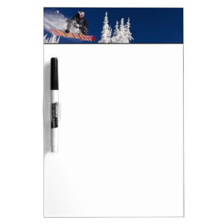 Snowboarding action at Whitefish Mountain Resort Dry Erase Board