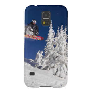 Snowboarding action at Whitefish Mountain Resort Galaxy S5 Cases