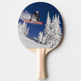 Snowboarding action at Whitefish Mountain Resort Ping Pong Paddle