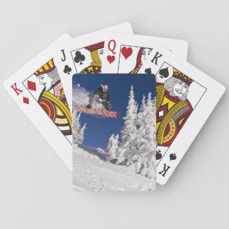 Snowboarding action at Whitefish Mountain Resort Poker Deck