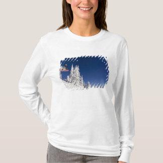 Snowboarding action at Whitefish Mountain Resort T-Shirt