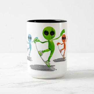 Snowboarding Aliens Mug