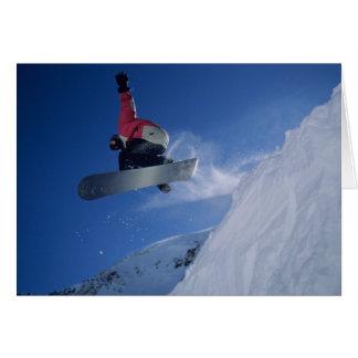 Snowboarding at Snowbird Resort, Utah (MR) Card