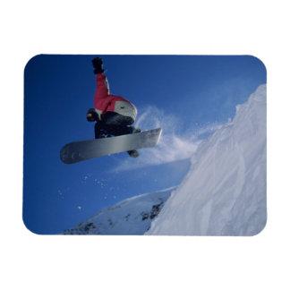 Snowboarding at Snowbird Resort, Utah (MR) Rectangular Photo Magnet