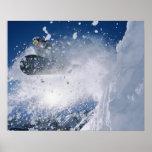 Snowboarding at Snowbird Resort, Wasatch Poster
