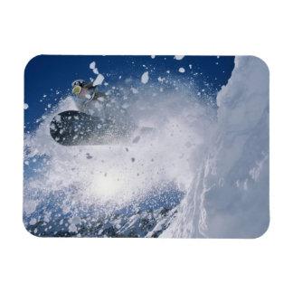 Snowboarding at Snowbird Resort, Wasatch Rectangular Photo Magnet