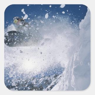 Snowboarding at Snowbird Resort, Wasatch Square Sticker