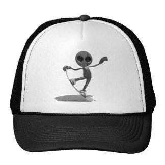 Snowboarding Black Alien Hat