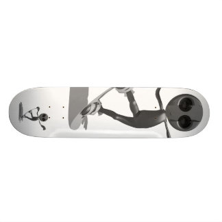 Snowboarding Black Alien Skateboard