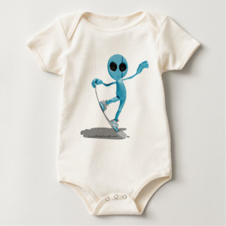 Snowboarding Blue Alien T-Shirt