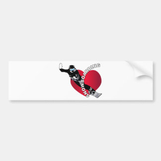 Snowboarding Bumper Stickers