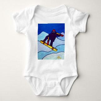 Snowboarding by Piliero Baby Bodysuit