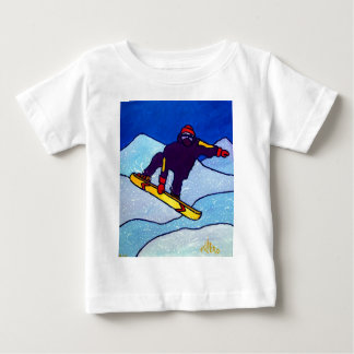Snowboarding by Piliero Baby T-Shirt