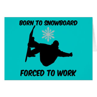 Snowboarding Greeting Card