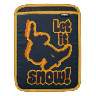 Snowboarding custom laptop / iPad sleeve