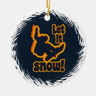 Snowboarding custom ornament