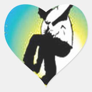Snowboarding design heart sticker