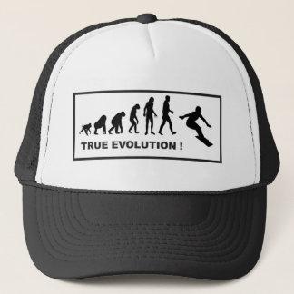 snowboarding evolution trucker hat