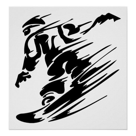 Snowboarding Extreme Sport Poster